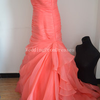 Charming Coral Ball Gown Prom Dress, Ball Gown Prom Dresses, Prom dress 2014, Prom, Wedding Dresses