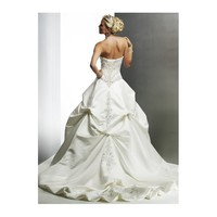 Embroidered Corset Ball Gown Sweetheart Satin Wedding Dress