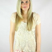 Love Lace Short Sleeve Top - $32.00 : FashionCupcake, Designer Clothing, Accessories, and Gifts