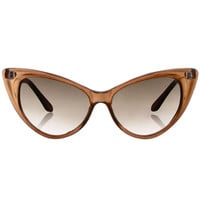 Cateye Sunglasses in Root Beer