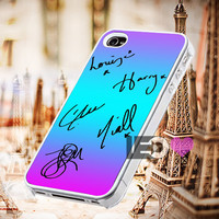 One Direction Signature for iPhone 4/4s,5,5s,5c - SG S2,S3,S4 - SG S3 Mini,SG S4 Mini - iPod 4, iPod 5 - Htc One