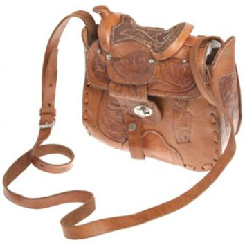 Tan Tooled Leather Handbag | Bags & Purses | Rokit Vintage Clothing
