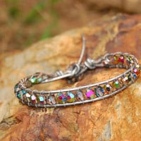 Silver Swarovski Crystal in Vitrail Wrapped by authenticaboutique