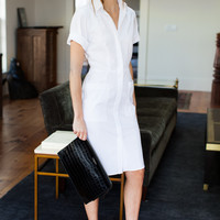 Shirt Hem Dress - Crisp White | Emerson Fry