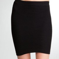 bebe Tube Mini Pleat Skirt