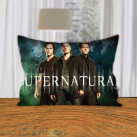 "PillowQ - Cool Supernatural Movie Poster - Design for Pillow Cover 18""x18"" and 30""x20"" - Front Side Print or Full Side Print"