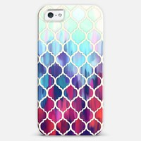 Moroccan Meltdown in pink, purple & aqua iPhone 5s case by Micklyn Le Feuvre | Casetagram