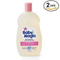 Baby Magic Gentle Hair and Body Wash Original Baby Scent, 16.5-Ounce (Pack of 2)