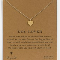 Dogeared 'Reminder - Dog Lover' Boxed Pendant Necklace
