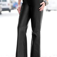 Jessica London Plus Size Leather Pants