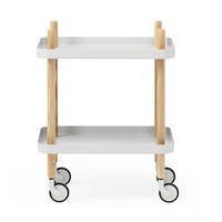 Peggy Cart Table in White