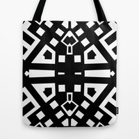 Black and White 60002 Tote Bag by EML - CircusValley