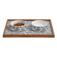 Heather Dutton Going Places Slate Pet Bowl and Tray
