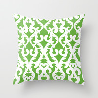 Modern Baroque Green Throw Pillow by Aimee St Hill