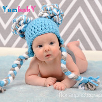 Boy Hat Chunky Pom Pom Hat Double Pom Pom Beanie Photography Prop Photo Props for boys