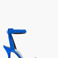 ROYAL BLUE SUEDE LOVISA ANKLE STRAP PUMPS