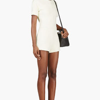 PALE YELLOW NEOPRENE ROMPER