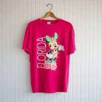 Vintage 80s Minnie Mouse Florida Tourist Tee - L