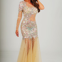 To The Glitter End Dress: Champagne