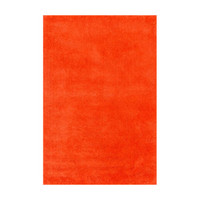 Bright Dawn Shag Rug in Tangerine