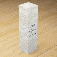 White Lace Wedding Wine Box