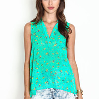 BOUQUET SLEEVELESS BLOUSE
