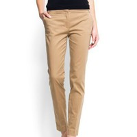 Mango Women`s Cropped Chino Trousers