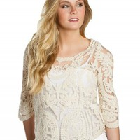URBAN DAY CROCHET LACE TOP