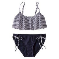 Xhilaration® Junior's 2-Piece Swimsuit -Stripe Print