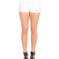 Denim Side Patch Cut Off Shorts
