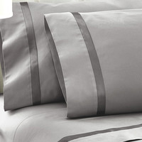 Silver Satin Ribbon Sheet Set | something special every day