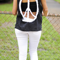 Peace, Love, & Happiness Top: Black