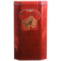 Loc Maria Milk Crepes Belgian Chocolate Biscuits in a Gift Tin Net Wt 16.05 OZ (455 g)