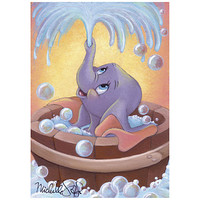 ''Dumbo in Bubbles'' Giclée by Michelle St.Laurent