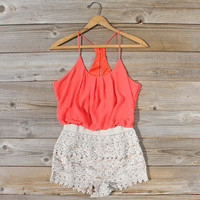 Kindred Spirits Romper in Coral