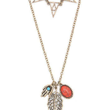 With Love From CA 2 Layer Triangle Charm Necklace at PacSun.com