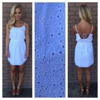 White Eyelet Sunshine Dress