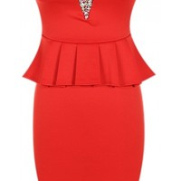 Strapless Jewel Peplum Dress - 29 N Under