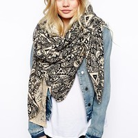 ASOS Geo-Tribal Eye Oversized Scarf