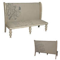 High Back Louis XVI Bench