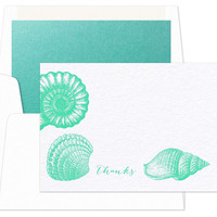S/12 Seashell cards & envelopesCHECKERBOARD
