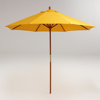 9' GOLDEN ROD YELLOW UMBRELLA CANOPY