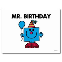 Mr Birthday Classic Postcard