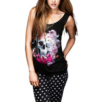 SINFUL Black Sexy Tank Top T-Shirt Skull Pattern Fashion Womens Girl Large Small