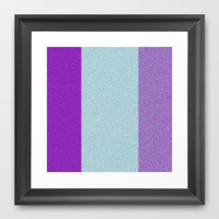 Re-Created Interference ONE No. 23 Framed Art Print by Robert S. Lee