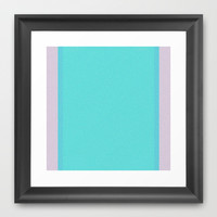 Re-Created Interference ONE No. 21 Framed Art Print by Robert S. Lee