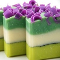 Fresh Cut Grass Soap Handmade Cold Process Vegan by Blushie