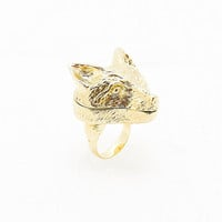 Andrea Garland Fox Lip Balm Ring in Gold - Urban Outfitters
