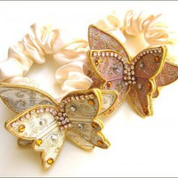 Butterfly Scrunchi | DistinQueJewelry - Accessories on ArtFire