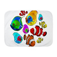 Tropical Fishes Pattern Baby Blanket